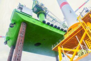 Offshore Wind Farm Installation Jack Up Vessel Crane Barge