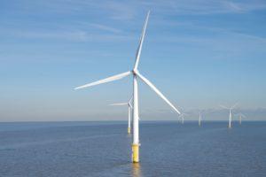 Offshore Windfarm Blue Sky