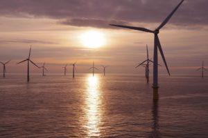 Offshore Windfarm Sunset