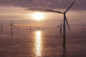 Offshore Windfarm Sunset