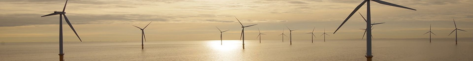 Offshore Windfarm Yellow Sky Banner
